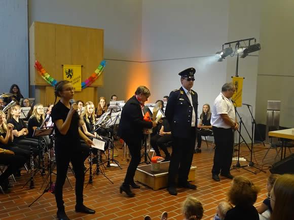 Das Jugendorchester im Einsatz
